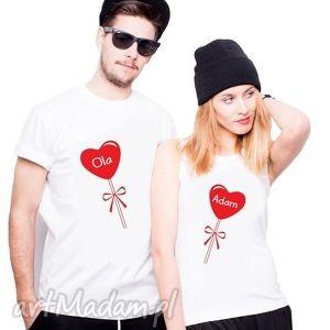 Koszulki dla Par Serce z Waszymi Imionami , ślub, rocznicq, love