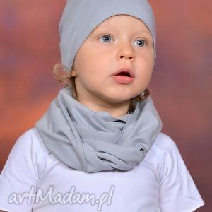 ubranka bawełniana letnia czapa smerfetka szara, bawełna, handmade, lato, surowa
