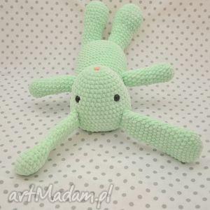 króliczek miętusek - maskotka szydełkowa, królik, króliczek, miętowy, mięta, pastele