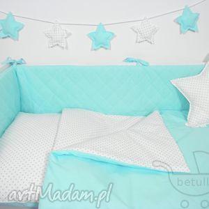 Ochraniacz do łóżeczka PIKOWANY Turkusowy , ochraniacz, łóżeczka, pikowany, stylowy