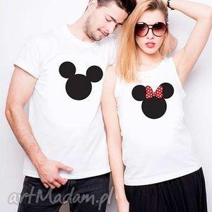 hand-made koszulki koszulki dla par minnie