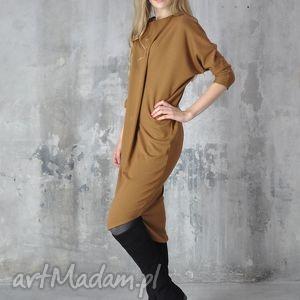nah nu step - sukienka, midi, ruda, dzienna, praca, sylwestrowa ubrania