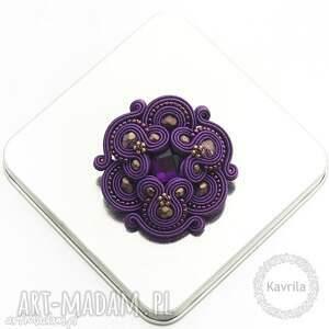 broszka divino purple soutache - sutasz, soutache, broszka, stylowa