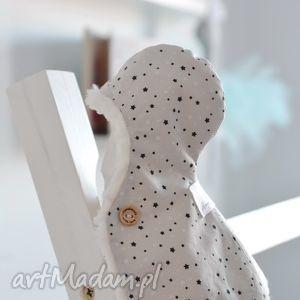 zimowa pelerynka baletnicy - zimowa, pelerynka, baletnicy, ubranko, lalki, sarenka