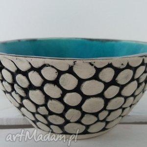 ceramika turkusowa miska z kulek, ceramiczna, miseczka, miska, turkusowa