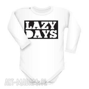 święta prezent, ubranka body lazy days, body, indywidualne, nadryk, text, długi
