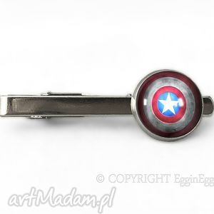 kapitan - spinka do krawata, tarcza, kapitan, spinka, superbohater męska