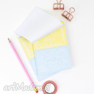 zestaw małych notesów a6, dwa notesy z ciasteczkami, 50 kartek, notes