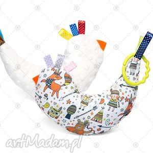maskotki kurka przytulanka sensorek maskotka minky - kremowy indianin