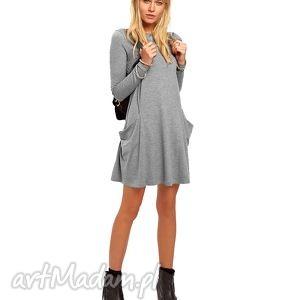 tuniki tunika z kieszeniami, sukienki, rozkloszowane, kieszenie, midi ubrania