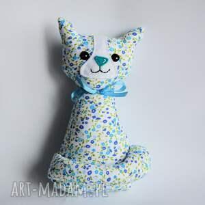 kotek miauqn - ela - kotek, kot, dziewczynka, kwiatki, maskotka, urodziny