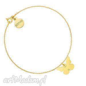 złota bransoletka z motylem, bransoletka, złota, motyl, motylek, animals, łancuszkowa