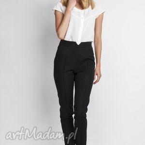 spodni, sd112 czarny, wysokie, czarne, długie, zakek, eleganckie, kobiece spodnie