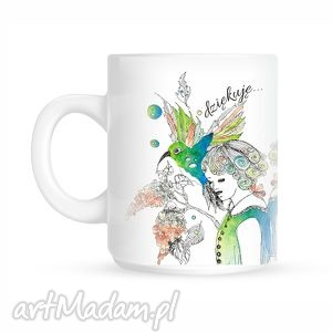 kubki kubeczek z kolibrem, kubek, ceramika, koliber, ilustracja dom, święta prezent