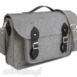 Filcowa torba - personalizowana - z grawerowaną dedykacją logo lub grafiką 15