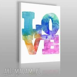 obraz na płótnie - napis love 50x70 cm 09301 , love, napis, litery, kolorowy