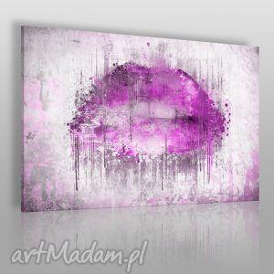 obrazy obraz na płótnie - abstrakcja usta fioletowy 120x80 cm 23102