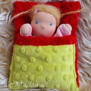 laleczka waldorfska w śpiworku - lalka, waldorfska, mojalala, przytulanka, dziecko