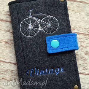 Filcowe etui na telefon - Vintage Bike, etui, smartfon, portfelik, filcowe, retro