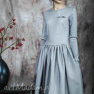 kasia miciak design rozkloszowana sukienka z haftowaną koronką, rustic, dress