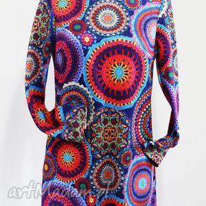 kolorowe planety-sukienka, kolorowa, unikatowa, oryginalna, klasyczna, wugodna