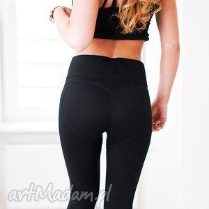 hand-made spodnie modne eleganckie legginsy czarne push up serce pupa l