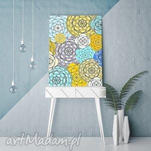 plakat 50x70cm, kwiaty, kwiatki, abstrakcja, plakat, grafika, dom plakaty, wyjątkowe
