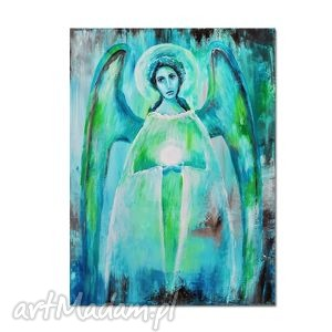 anioł sabrael, obraz ręcznie malowany, anioł, obraz, ręcznie, malowany obrazy