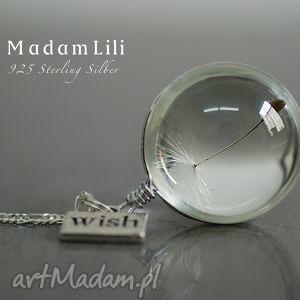 ręcznie zrobione naszyjniki 925 srebrny naszyjnik dmuchawiec życzenie