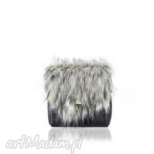 torebka mini puro 847 fur 4, futrzana, torebka, puro, mini, skórzana, rękodzieło na