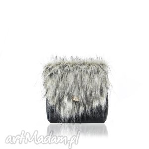 oryginalny prezent, torebka mini puro 847 fur 4, futrzana, torebka, puro