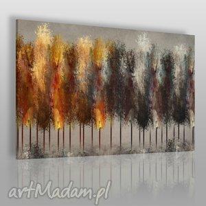 obraz na płótnie - las drzewa ogień 120x80 cm 46901 , las, drzewa, ogień, ciemny