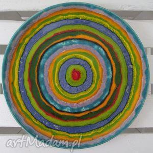 unikalny prezent, full color patera ceramiczna, talerz, ceramiczny, kolorowa