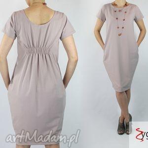 fold sukienka z dzianiny bawełnianej, sukienki, dzianina, bawełna, casual ubrania