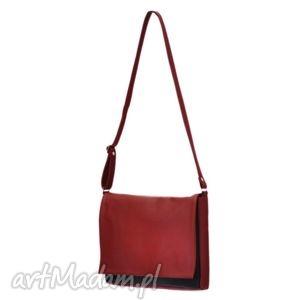 35-0001 czerwona torebka aktówka damska robin, modne, torebki, damskie, aktówki