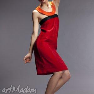 prezent na święta, sukienka circle, sukienka, len, czerwona ubrania