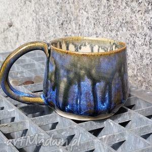 gliniakimacieja filiżanka granatowo-brązowa, filiżanka, kubek, ceramika, glina