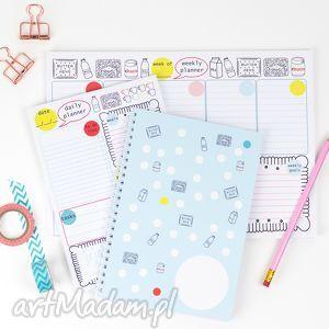 kapotka zestaw planerów, planer dzienny i tygodniowy,, planer, notes, zestaw, prezent