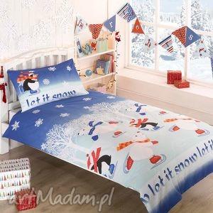 pościel świąteczna - let it snow 135x200cm , zabawna, śmieszna, świąteczna, dziecka