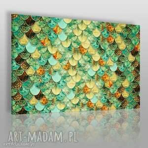 obrazy obraz na płótnie - arabeska łuski 120x80 cm 42801 , łuski
