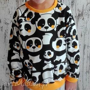 ubranka bluza z długim rękawem - pandy 98-140 , bluza, bluzka, długi, dla