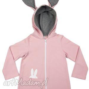 ubranka płaszczyk bluza różowa a kuku, płaszczyk, bawełna, bluza, królik, uszy