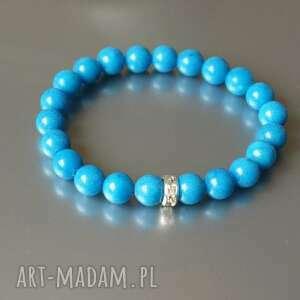 prezent na święta, bransoletka marmur niebieski, bransoletka, marmur, gumka