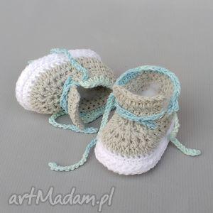 Prezent Buciki Carleton, buciki, trampki, niemowlę, noworodek, prezent, szydełkowane