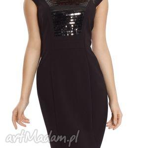 sukienki sukienka mała czarna z cekinami rozmiar 40, cekin, wieczorowa, wizytowa