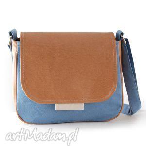 incat bambi - mała torebka jasnoniebieska i ecru, mała, wygodna, praktyczna