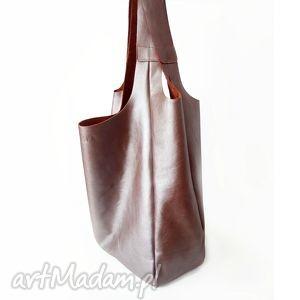 torba lamio, skóra, torba, ręcznie, szyta, uszyta na ramię