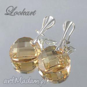 klipsy swarovski golden shadow, klipsy, swarovski, eleganckie, srebrne