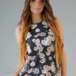 bluzka adela 3, lekka, zwiewna, szyfon, kwiaty, modna, wygodna bluzki