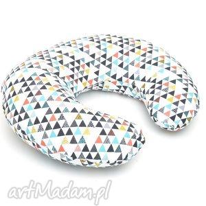 ROGAL DO KARMIENIA FASOLKA PODUSZKA kolorowe trójkąty, poduszka, rogal, fasolka